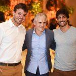 Gustavo Weigert, Roberto Cohen e Rodrigo Lasmar