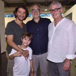 Fábio Szwarcwald e filho Marc com Ricardo Rego e Marcos Chaves