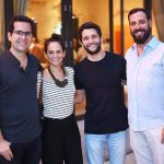 Tiago Freire, Ana Luisa Cairo, Gustavo Prado e Marcelo Jardim