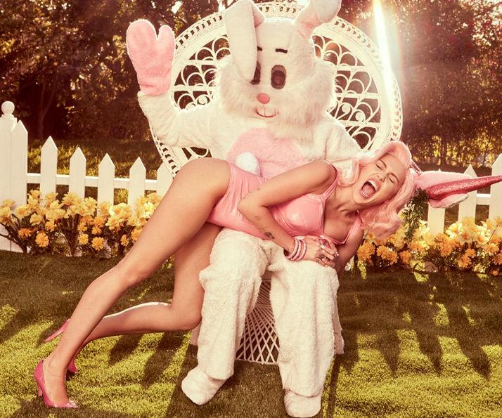Miley Cirus e o coelhinho machão