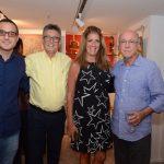 Candido Carneiro, Sérgio Goston e Cristina Goston com Evandro Carneiro