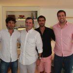 Cesar Ramos Filho entre os filhos Bernardo, Alberto e Rafael Sued Ramos