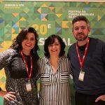 Katia Adler entre o dietor de Cinema Taigo Arakilian e sua esposa Rita Grassi
