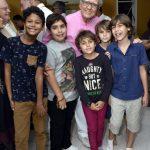 Luiz Carlos Barreto e seus bisnetos