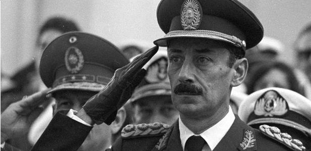 O ditador argentino Jorge Videla