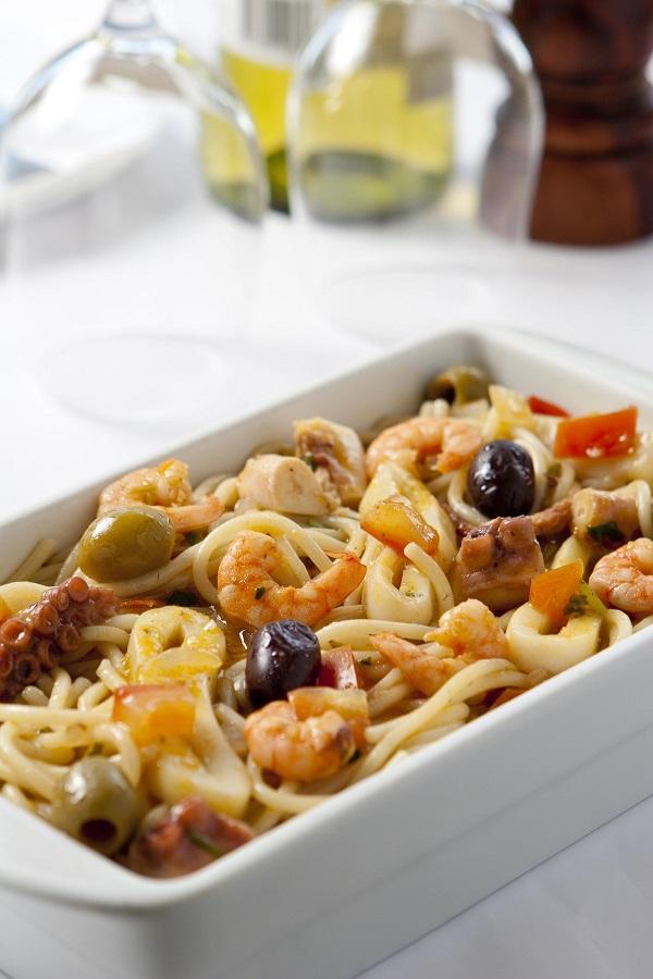 bar e restaurante urca, espaguete com frutos do mar