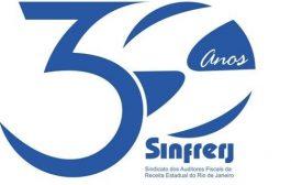 Selo comemorativo de 30 anos do Sinfrerj