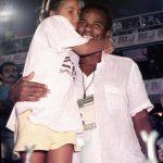 Camila e seu pai Antônio Pitanga