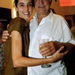 Luciana e seu pai Rogério Fróes