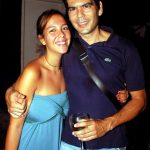 Miranda e seu pai Dado Villa Lobos