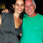 Joana e seu pai Nelson Motta