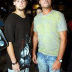 Gabriel e seu pai Felipe Camargo