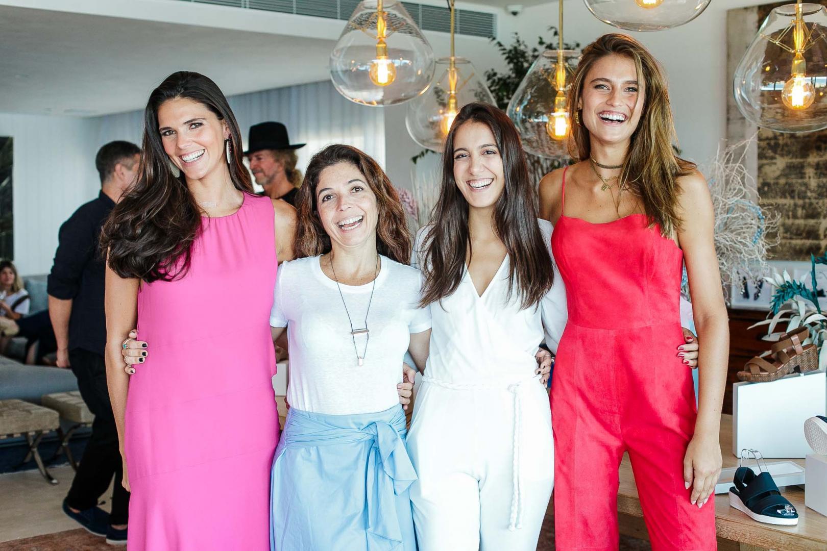Daniella Sarahyba e Fernanda Liz no lançamento de nova linha de calçados