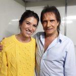 Roberto Carlos e Rebeca Abravanel