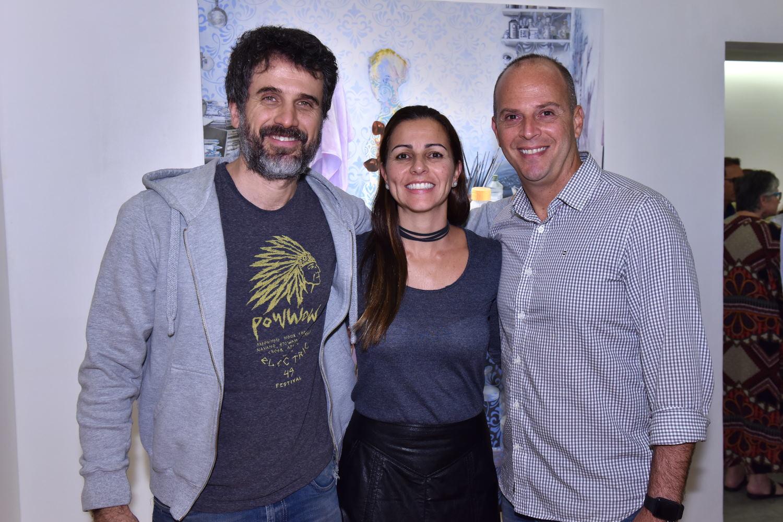 """Eriberto Leão no lançamento da  mostra """"Ponto Cego"""" ,  de Paulo Vieira"""