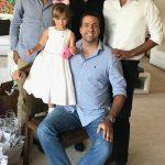 Uma linda dinastia a do Cesar Ramos Filho, de preto na foto, com Rafael, Bernardo, Alberto e Maria Catarina