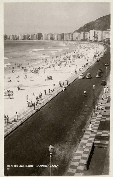 A Avenida Atlântica no tempo em que assassinaram Aida Curi: é melhor essa imagem do que ver a moça jogada na calçada, a imagem que sempre me assombrou
