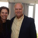 A harpista Cristina Braga e Rogério Van Rybroek