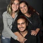 Bianca com seus filhos Pietra e Enrico De Felippes