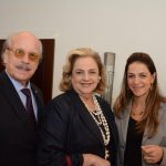 Claudio e Cristina Aboim com Laura Beatriz Dourado de Gusmão
