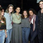 Marina Silva com os jovens Cariocas