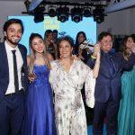Rodrigo Simas, Nina Mothé, Ana Basbaum, Marcio e Julia Mothé