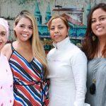 Lia e Larissa Martins,Nadja Pimentel e Mayara Pimentel