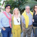 Arnaldo e Maria Inês Basto com Paulino e Fernanda Basto