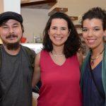 Claudio Tobinaga, Erika Nascimento e Bruna Costa