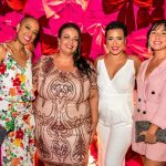 Patricia Dias, Marcelle Medeiros, Fernanda e Linda Rojas