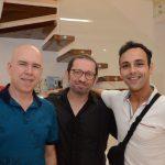 Raul Leão, Manoel Novello e Filipe Masini
