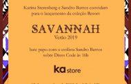 Sandro Barros e Karina Sterenberg lançam coleção Resort Savannah Verão 2019