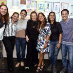 A diretora Maria Luiza Soares de Souza e sua equipe de professores