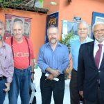 Alexei Bueno, Carlos Nejar, Ricardo Cravo Albin, Luciano Rosa e o Des. Antonio Cralos Torres