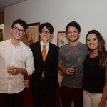 Bruno Barreto, João Mello, Pedro Mello e Marcele Azevedo