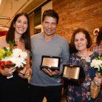 Cecilia Ligiero, superintendente do Rio Design Leblon com Pedro Werneck e Rosa Celia