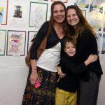 Claudia Rebecchi e Alexandra di Calafiori e seu filho Mariano