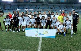 Futebol com artistas comemora 20 anos da Fundação Gol de Letra