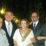 Gilberto Menezes Cortes, Cláudio Tavares - o novo presidente do Tribunal de Justiça, Anna Ramalho, Luiz Felipe e Isabela Francisco