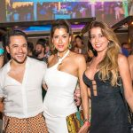 Vinicius Belo com Christiana Sauerbronn e Cristiana Andrade