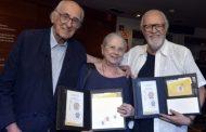 Teatro Casa Grande festeja 52 anos com lançamento de selo comemorativo dos Correios e inauguração de escultura na fachada do Teatro