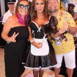 Beth Andrade entre Gisele e Fernando Saraiva