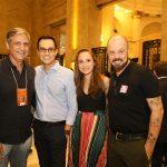 Toni Oliveira, gerente de comunicação CCBB, Andre Giancotti, Luciana Esteves e Tales Rocha
