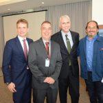 Consul da França Jean-Paul Guihaumé, Bayard Boiteux, Scott Hamilton e Felipe Seigler