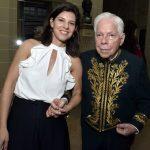 Adriana e seu pai o acdêmico Sergio Paulo Rouanet