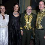 Elza Pereira, Renata Magalhães, Cacá Diégues e Merval Pereira