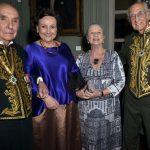 Os casais - Candido Mendes e Margareth Dalcolmo e Mary e Zuenir Ventura