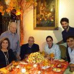 Gabriel Chalita, o ator Guilherme Logullo, Lilian e Heitor Gurgulino, Ruth e Arnaldo Niskier