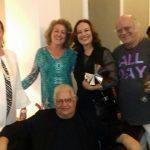 Beth e Carlos Alberto Serpa, com Margaret Padilha, a melhor bailarina, Marina Salomon e o marido dela, o querido ator Tonico Pereira