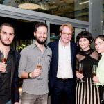 Giovani Paschoal, Rafael Martins, Clovis Taittinger, Ellen Tavora e Luiza Tardin